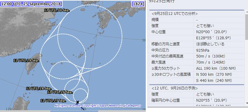 台風24号 本当に接近?