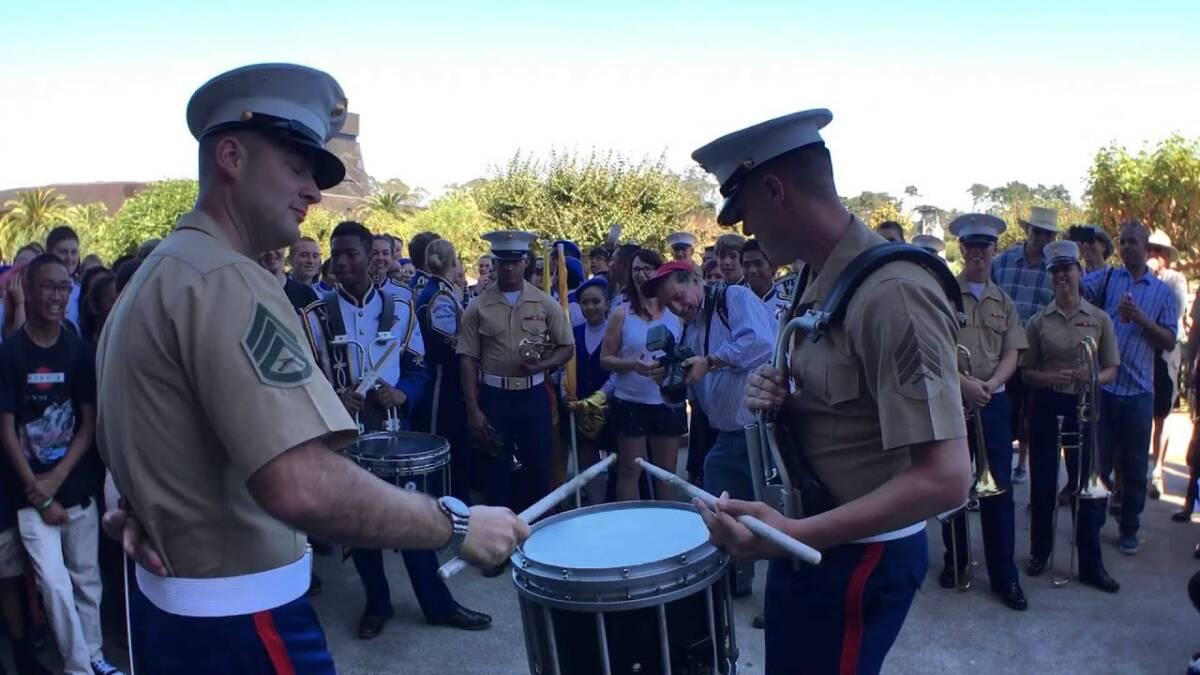 Benicia Drumline VS 1st Marine Division